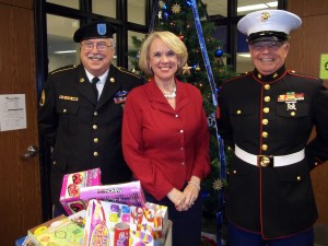 Toys for Tots Pickup at Sebastian Middle School, 2013