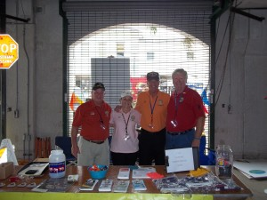 Craig Waskow, Gail Sayles, Pete Sayles and Marty Zickert at Ft. Pierce Beer Fest representing VVA Chapter 1038 as their donation choice!