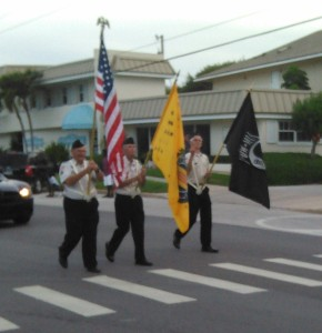 Vero Beach Independence Day Parade 2015. VVA CHapter 1038 Color Guard.