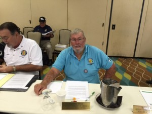 Hap Allston, VVA Chapter 1038 President, is shown sitting at the Florida State Council delegates table during the FSC meeting in Orlando, June 13.