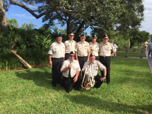 VVA 1038 Color Guard at Veterans Island, Vero Beach, Veterans Day 2015